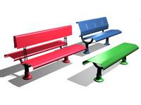 3d pcp public benches