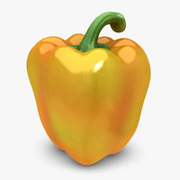 3d realistic pepper orange mix model
