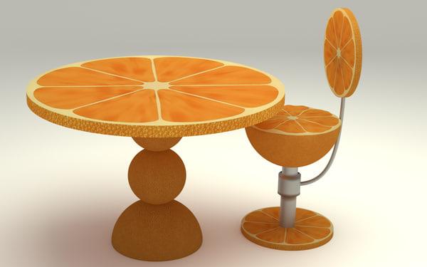 max table kitchen orange