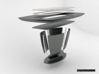 3d model according dining table