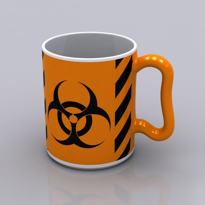 hazardous coffee mug 3d model