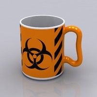 hazardous coffee mug 3d model