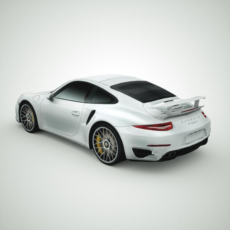 porsche 911 turbo s 3d model