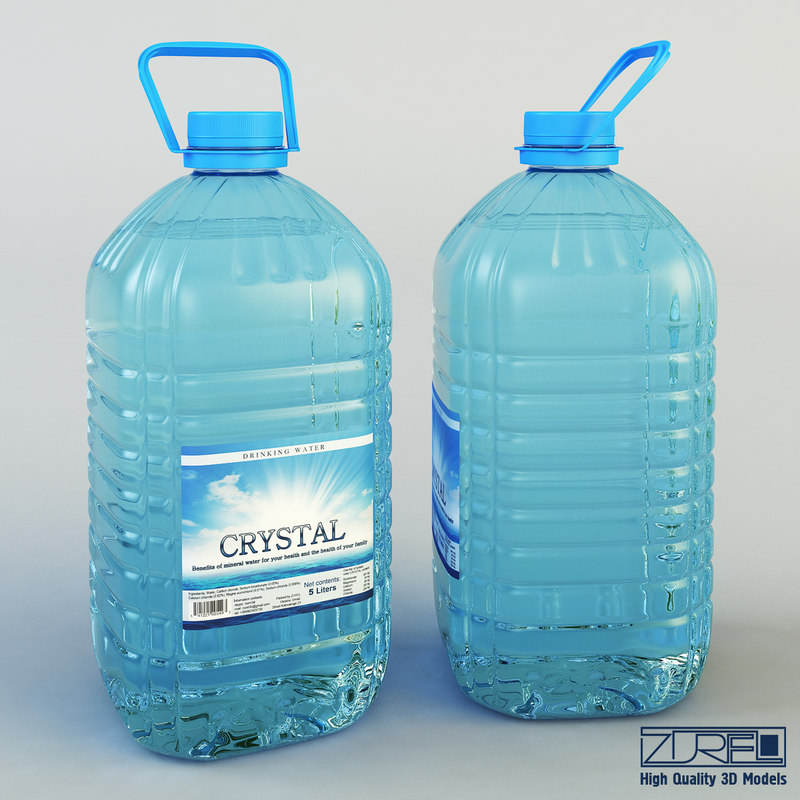 Water bottle 5 liter 3d model for Decor 5 5 litre