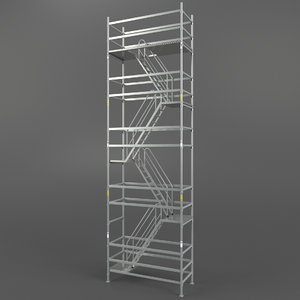 3d scaffold tower model