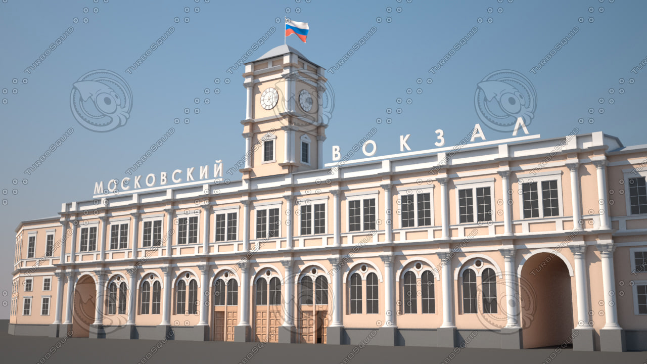3d model moskovsky railway station