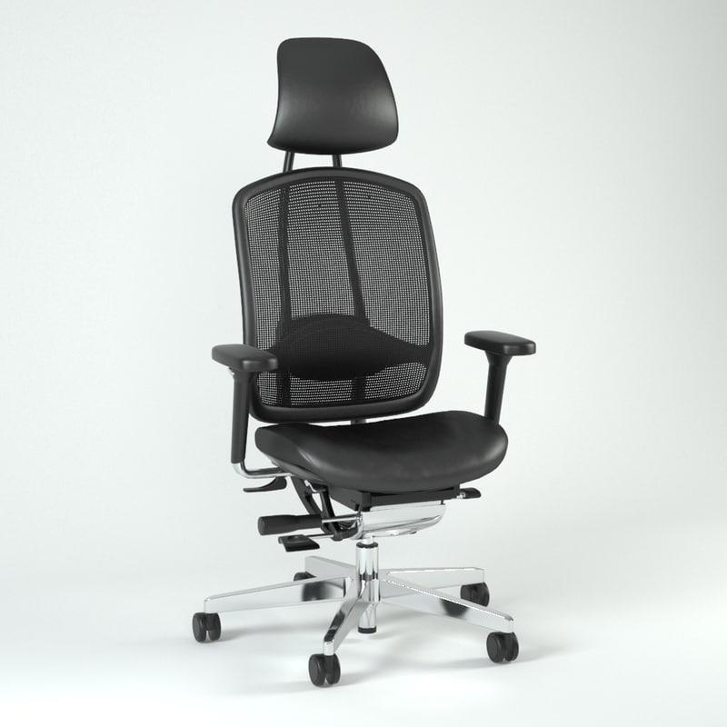 3dsmax chair alumedic
