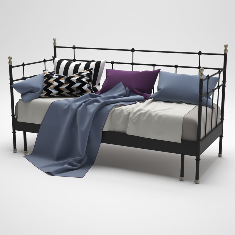 bed svelvik ikea 3d max. Black Bedroom Furniture Sets. Home Design Ideas