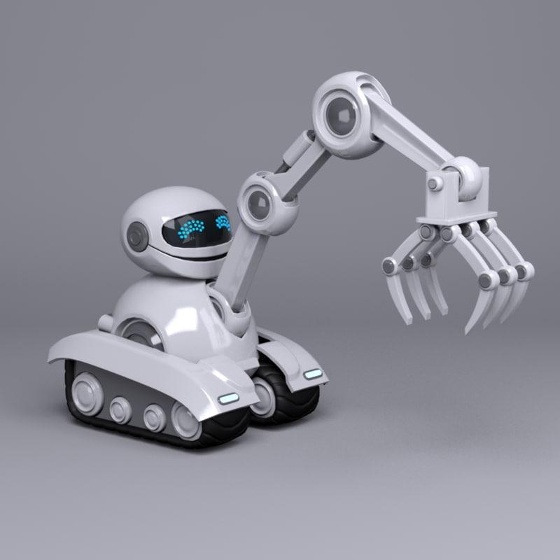 robot character loader 3d model