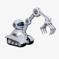 robot character loader 3d model