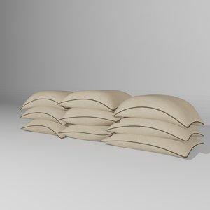 3d model sandbag bag