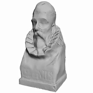 writer cervantes bust 3d model