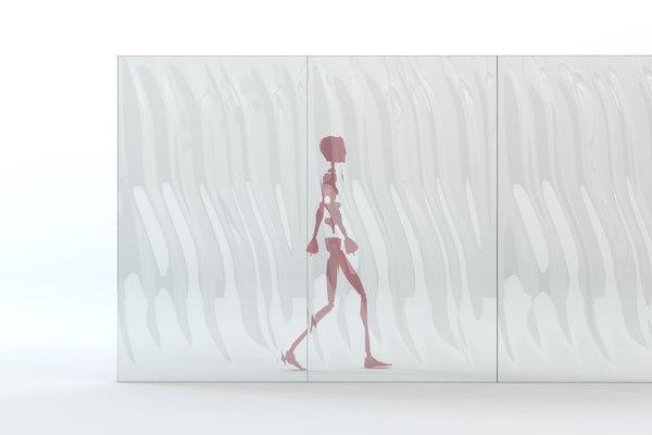 3d model of lasvit glass wall module