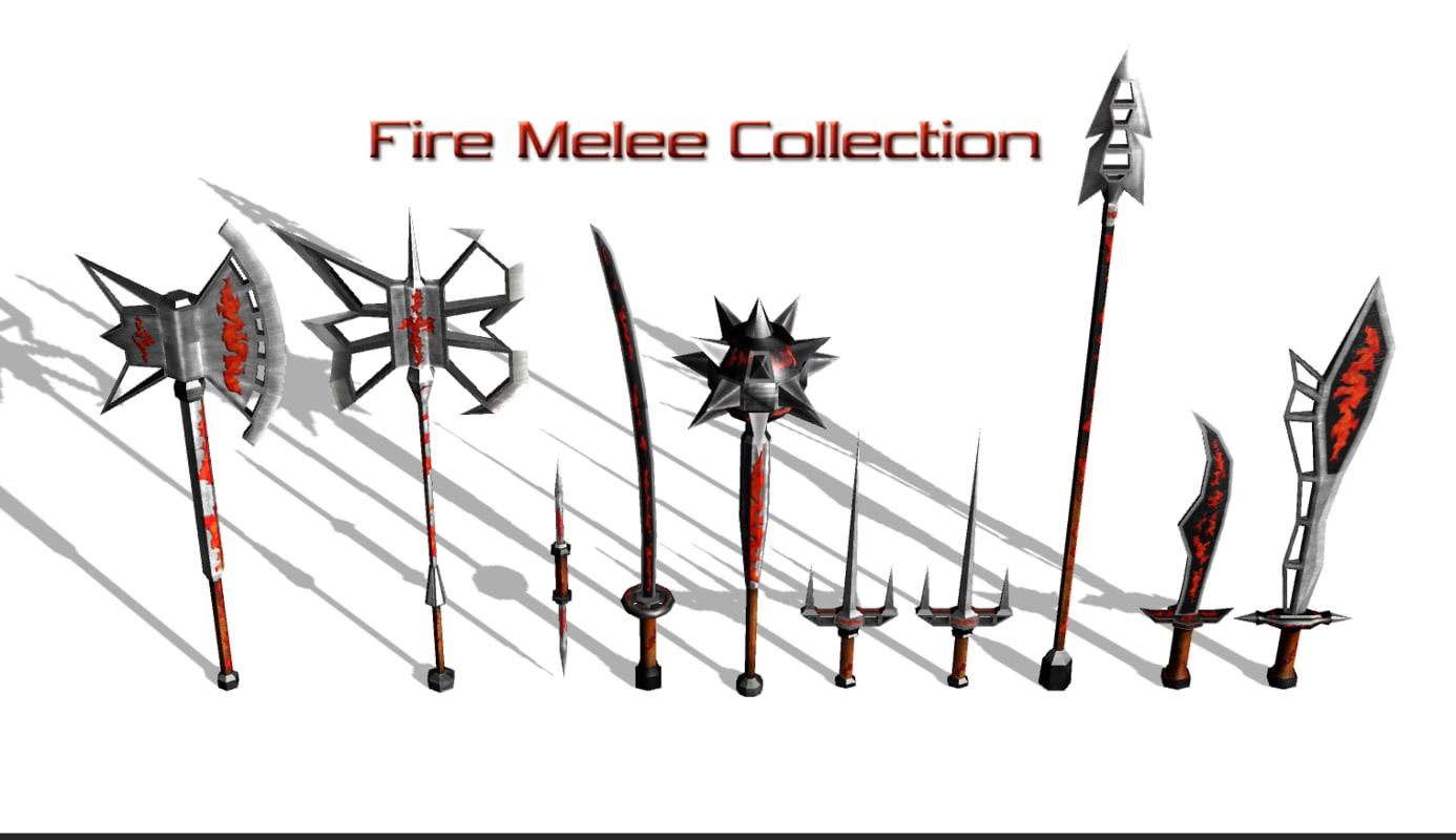 melee 3d model