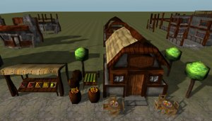 buildings store magic 3d model
