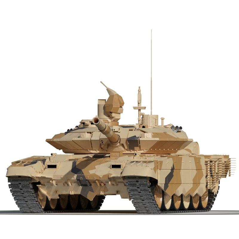 3d model russian battle tank