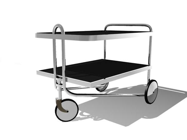 breuer serving cart 3d model