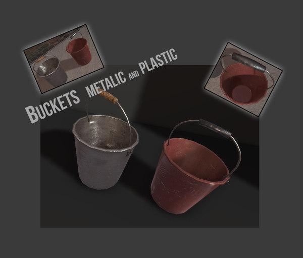 buckets engine 3d model
