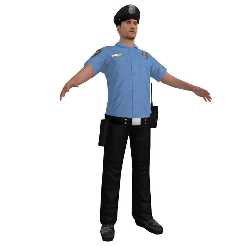 3d max police officer 2