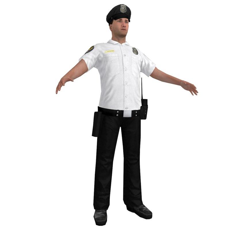 3d police officer 3