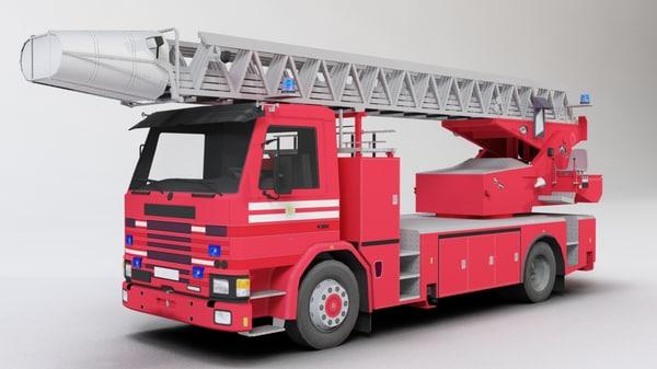 truck airport 3d model