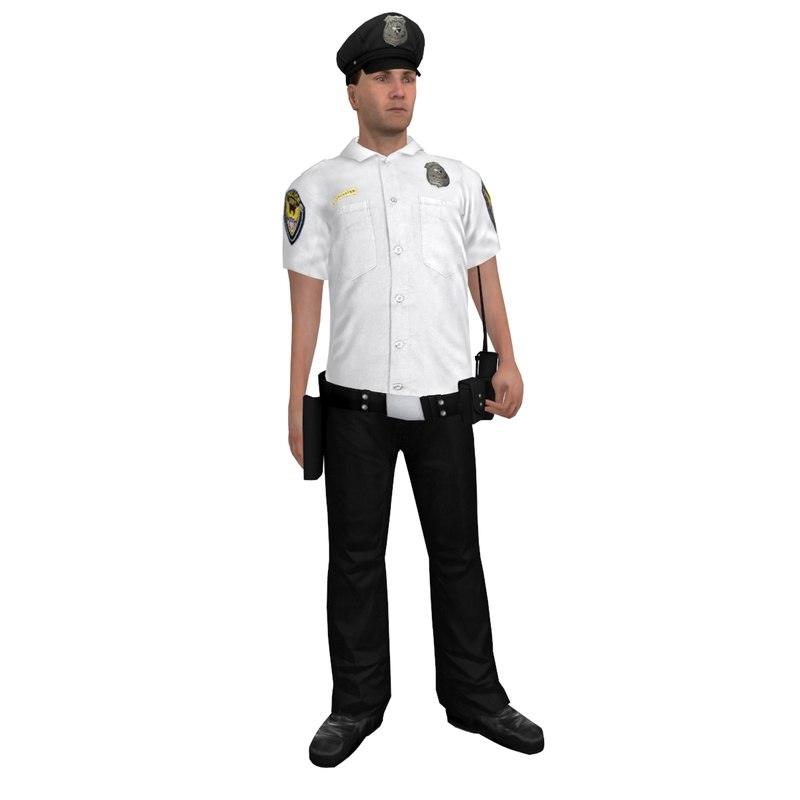 rigged police officer 3 max