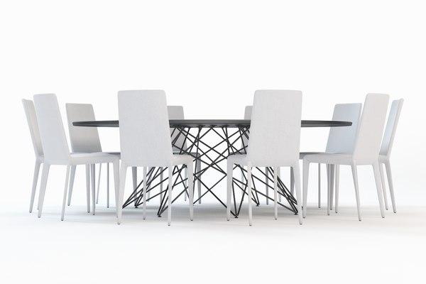 3d octa chair table
