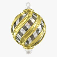 glass christmas ornament 3d fbx
