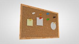 3d model pinboard pin