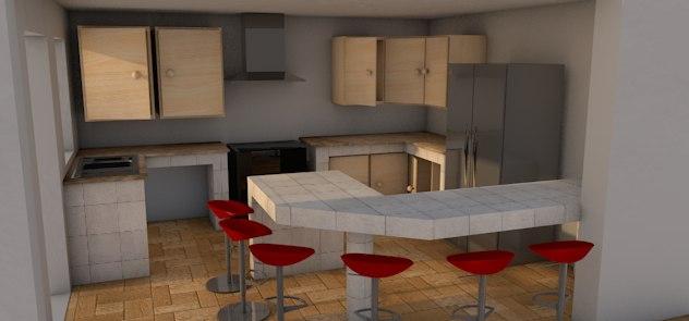 3d c4d kitchen