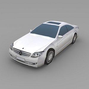 3d mercedes cl600 car model