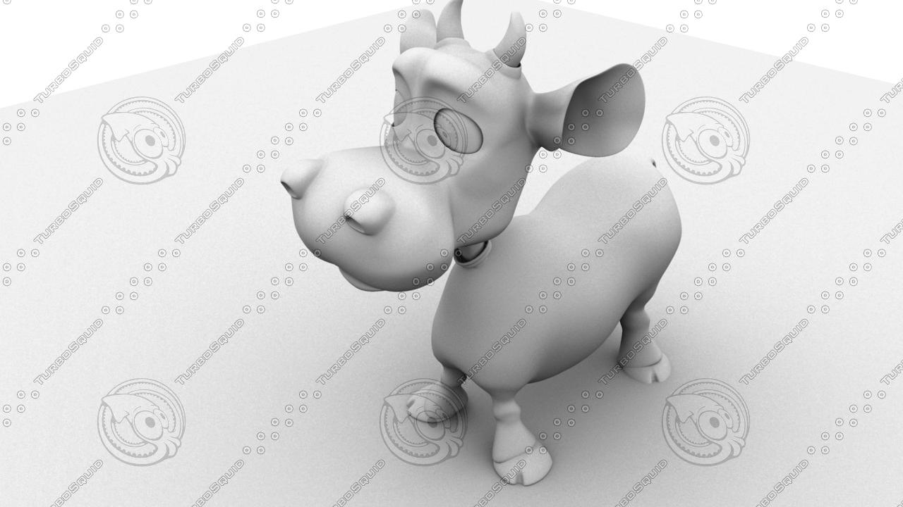 cartoon cow 3d model