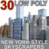 30 style building 3d model