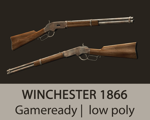 gameready winchester 1866 3d max