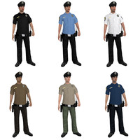 Police Officers LOD1 Rigged Pack