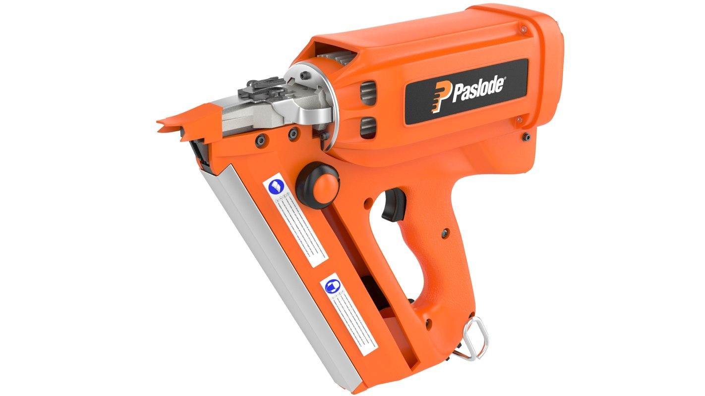 3d model paslode nail gun