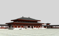 3d model great buddha's hall
