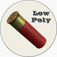 Shotgun Shell Low Poly