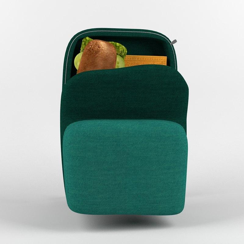 green backpack 3d model