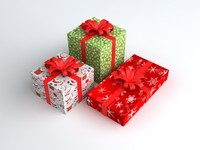 gift boxes 3d 3ds