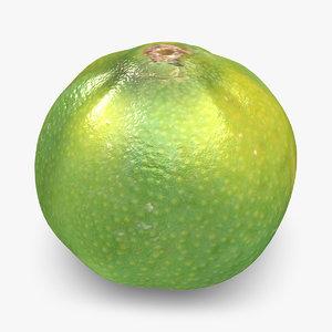 3d model clementine green