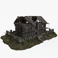 3d old building