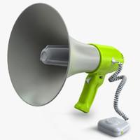 c4d megaphone realistic