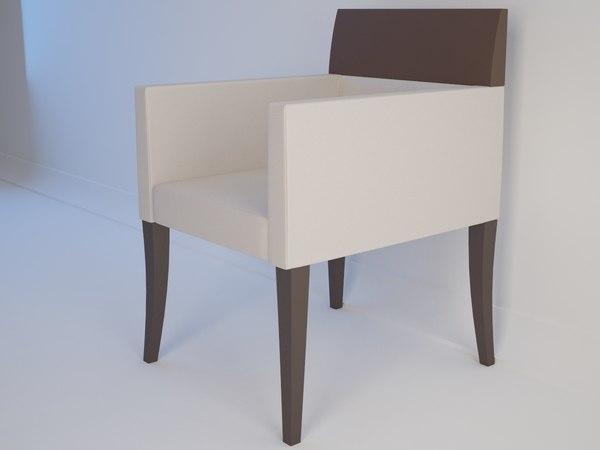 chair selva sedia braccioli 3d max