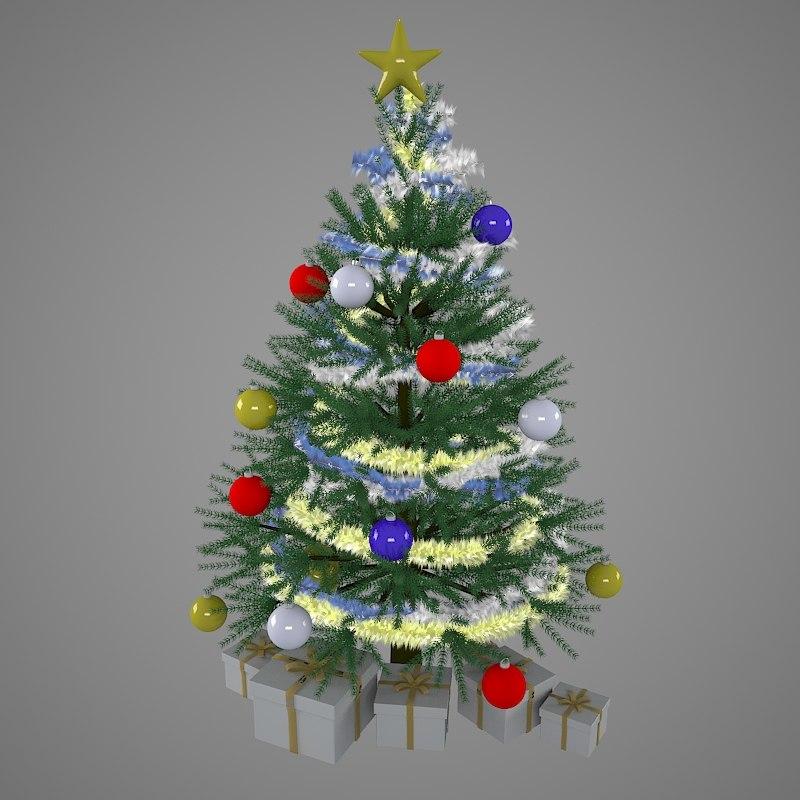3d model xmas tree