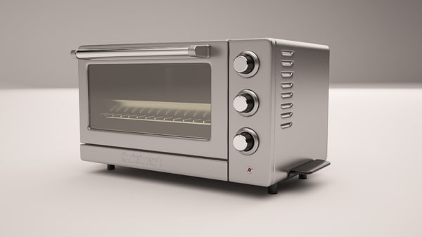 stainless steel toaster oven 3d max