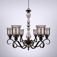3d model carter crystal chandelier