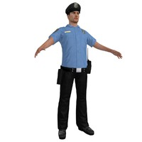3d model police officer 2