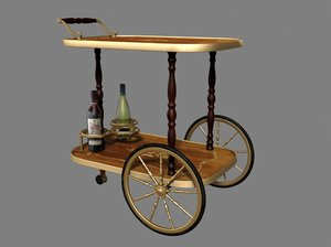 max italian antique beverage trolley