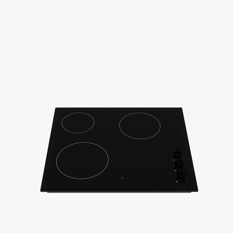 3d model of cooktop